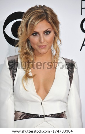 LOS ANGELES, CA - JANUARY 8, 2014: Cassie Scerbo at the 2014 People's Choice Awards at the Nokia Theatre, LA Live.  - stock photo