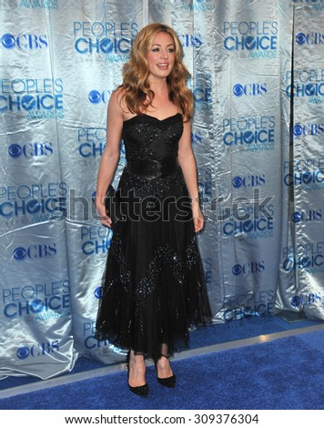 LOS ANGELES, CA - JANUARY 5, 2011: Cat Deeley at the 2011 Peoples' Choice Awards at the Nokia Theatre L.A. Live in downtown Los Angeles.  - stock photo