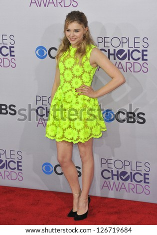 LOS ANGELES, CA - JANUARY 9, 2013: Chloe Grace Moretz at the People's Choice Awards 2013 at the Nokia Theatre L.A. Live.