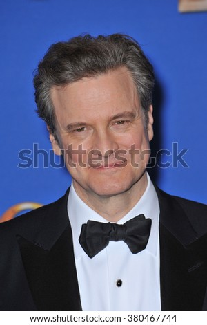 LOS ANGELES, CA - JANUARY 11, 2015: Colin Firth at the 72nd Annual Golden Globe Awards at the Beverly Hilton Hotel, Beverly Hills.