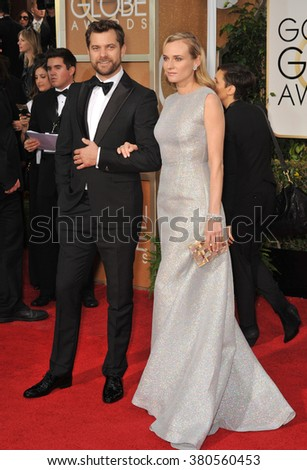 LOS ANGELES, CA - JANUARY 11, 2015: Diane Kruger & Joshua Jackson at the 72nd Annual Golden Globe Awards at the Beverly Hilton Hotel, Beverly Hills.