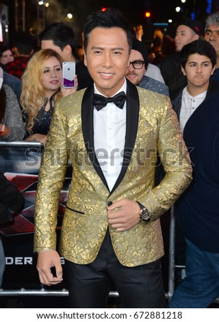 "LOS ANGELES, CA - JANUARY 19, 2017: Donnie Yen at the Los Angeles premiere for ""XXX: Return of Xander Cage"" at the TCL Chinese Theatre, Hollywood."