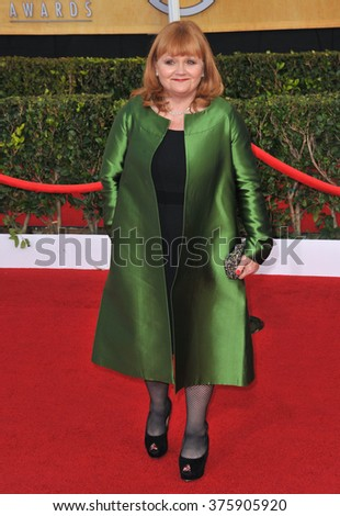 LOS ANGELES, CA - JANUARY 18, 2014: Downton Abbey star Lesley Nicol at the 20th Annual Screen Actors Guild Awards at the Shrine Auditorium.