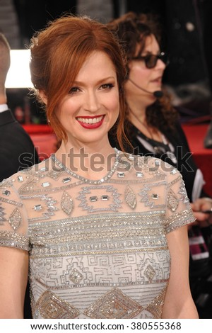 LOS ANGELES, CA - JANUARY 11, 2015: Ellie Kemper at the 72nd Annual Golden Globe Awards at the Beverly Hilton Hotel, Beverly Hills.