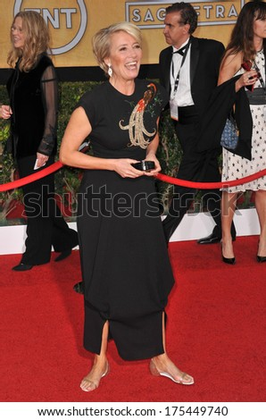 LOS ANGELES, CA - JANUARY 18, 2014: Emma Thompson at the 20th Annual Screen Actors Guild Awards at the Shrine Auditorium.