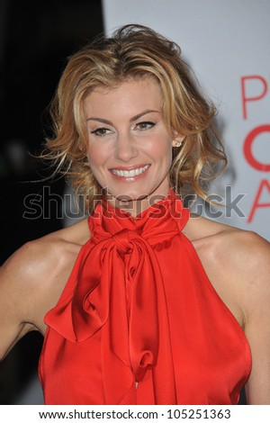 LOS ANGELES, CA - JANUARY 11, 2012: Faith Hill at the 2012 People's Choice Awards at the Nokia Theatre L.A. Live. January 11, 2012  Los Angeles, CA
