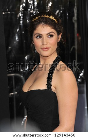 "LOS ANGELES, CA - JANUARY 24, 2013: Gemma Arterton at the Los Angeles premiere of her new movie ""Hansel & Gretel: Witch Hunters"" at Grauman's Chinese Theatre, Hollywood. - stock photo"