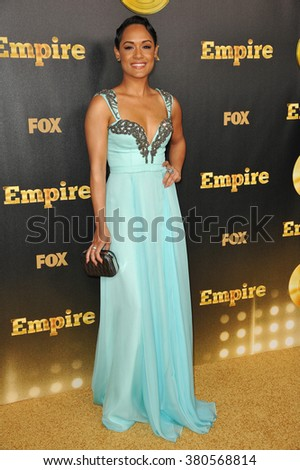"LOS ANGELES, CA - JANUARY 6, 2015: Grace Gealey at the premiere of Fox's new TV series ""Empire"" at the Cinerama Dome, Hollywood. - stock photo"