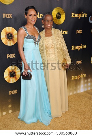 "LOS ANGELES, CA - JANUARY 6, 2015: Grace Gealey & mother at the premiere of Fox's new TV series ""Empire"" at the Cinerama Dome, Hollywood. - stock photo"