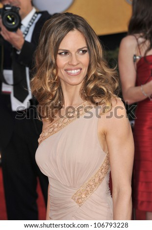 LOS ANGELES, CA - JANUARY 30, 2011: Hilary Swank at the 17th Annual Screen Actors Guild Awards at the Shrine Auditorium. January 30, 2011  Los Angeles, CA