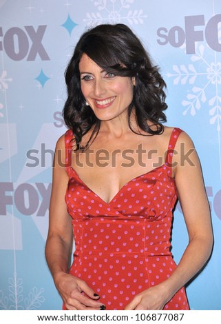 "LOS ANGELES, CA - JANUARY 11, 2011: ""House"" star Lisa Edelstein at the Fox All-Star Party Winter 2011 in Pasadena. January 11, 2011  Pasadena, CA"