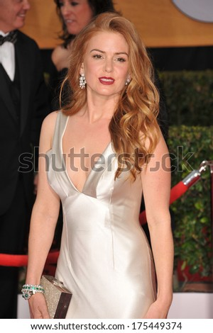 LOS ANGELES, CA - JANUARY 18, 2014: Isla Fisher at the 20th Annual Screen Actors Guild Awards at the Shrine Auditorium.  - stock photo