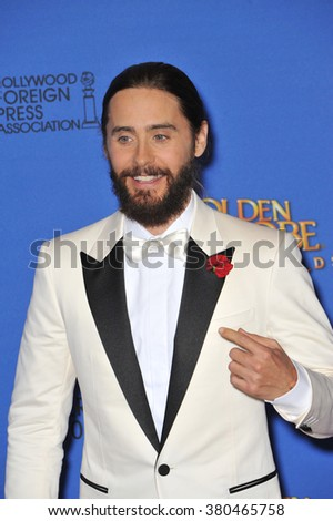 LOS ANGELES, CA - JANUARY 11, 2015: Jared Leto at the 72nd Annual Golden Globe Awards at the Beverly Hilton Hotel, Beverly Hills. - stock photo