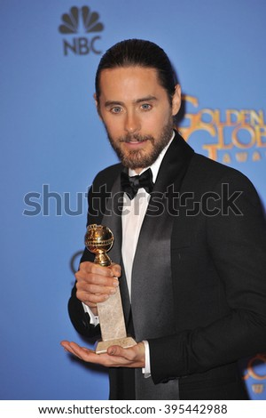 LOS ANGELES, CA - JANUARY 12, 2014: Jared Leto in the press room at the 71st Annual Golden Globe Awards