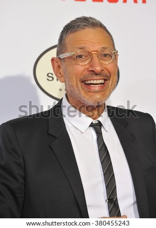 "LOS ANGELES, CA - JANUARY 21, 2015: Jeff Goldblum at the Los Angeles premiere of his movie ""Mortdecai"" at the TCL Chinese Theatre, Hollywood."