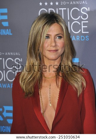LOS ANGELES, CA - JANUARY 15, 2015: Jennifer Aniston at the 20th Annual Critics' Choice Movie Awards at the Hollywood Palladium.  - stock photo