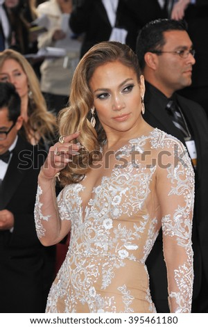 LOS ANGELES, CA - JANUARY 13, 2013: Jennifer Lopez at the 70th Golden Globe Awards at the Beverly Hilton Hotel.