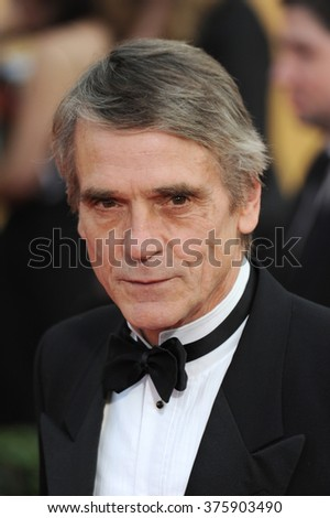 LOS ANGELES, CA - JANUARY 18, 2014: Jeremy Irons at the 20th Annual Screen Actors Guild Awards at the Shrine Auditorium.