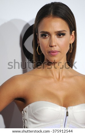 LOS ANGELES, CA - JANUARY 8, 2014: Jessica Alba at the 2014 People's Choice Awards at the Nokia Theatre, LA Live.