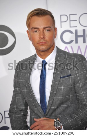 LOS ANGELES, CA - JANUARY 7, 2015: Joey Lawrence at the 2015 People's Choice  Awards at the Nokia Theatre L.A. Live downtown Los Angeles.  - stock photo