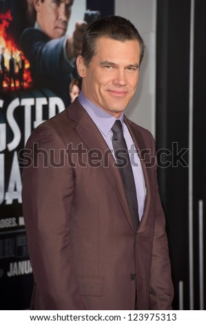 LOS ANGELES, CA - JANUARY 7: Josh Brolin arrives at the premiere of Gangster Squad at Grauman's Chinese Theatre in Los Angeles, CA on January 7, 2013