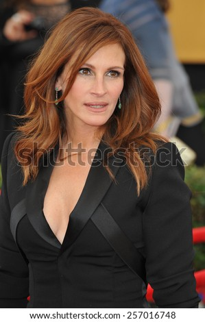 LOS ANGELES, CA - JANUARY 25, 2015: Julia Roberts at the 2015 Screen Actors Guild  Awards at the Shrine Auditorium.  - stock photo