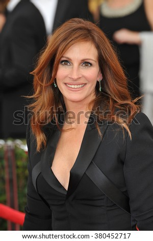 LOS ANGELES, CA - JANUARY 25, 2015: Julia Roberts at the 2015 Screen Actors Guild  Awards at the Shrine Auditorium.