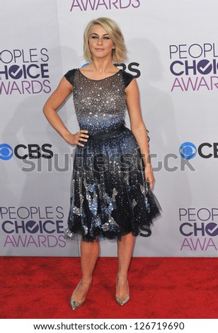 LOS ANGELES, CA - JANUARY 9, 2013: Julianne Hough at the People's Choice Awards 2013 at the Nokia Theatre L.A. Live.