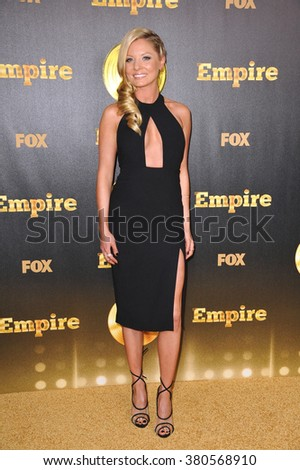 "LOS ANGELES, CA - JANUARY 6, 2015: Kaitlin Doubleday at the premiere of Fox's new TV series ""Empire"" at the Cinerama Dome, Hollywood. - stock photo"