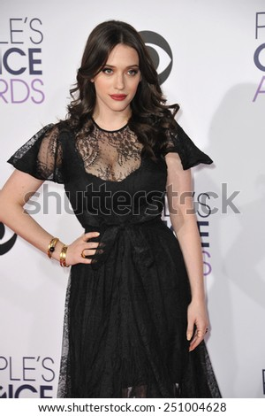 LOS ANGELES, CA - JANUARY 7, 2015: Kat Dennings at the 2015 People's Choice  Awards at the Nokia Theatre L.A. Live downtown Los Angeles.  - stock photo