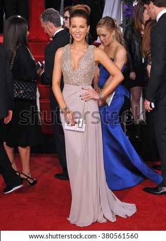 LOS ANGELES, CA - JANUARY 11, 2015: Kate Beckinsale at the 72nd Annual Golden Globe Awards at the Beverly Hilton Hotel, Beverly Hills. - stock photo