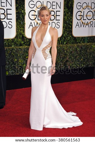 LOS ANGELES, CA - JANUARY 11, 2015: Kate Hudson at the 72nd Annual Golden Globe Awards at the Beverly Hilton Hotel, Beverly Hills.