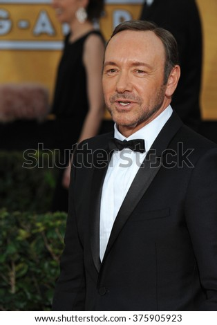 LOS ANGELES, CA - JANUARY 18, 2014: Kevin Spacey at the 20th Annual Screen Actors Guild Awards at the Shrine Auditorium.