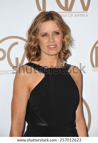 LOS ANGELES, CA - JANUARY 25, 2015: Kim Dickens at the 26th Annual Producers Guild Awards at the Hyatt Regency Century Plaza Hotel.