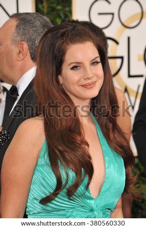 LOS ANGELES, CA - JANUARY 11, 2015: Lana Del Rey at the 72nd Annual Golden Globe Awards at the Beverly Hilton Hotel, Beverly Hills. - stock photo