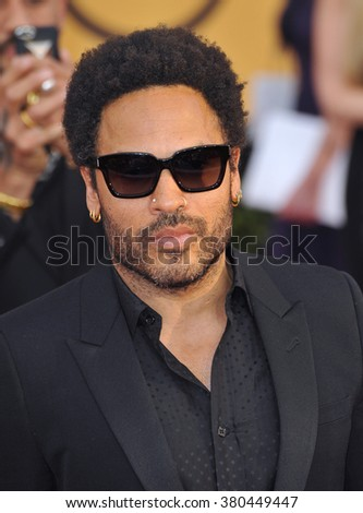 LOS ANGELES, CA - JANUARY 25, 2015: Lenny Kravitz at the 2015 Screen Actors Guild  Awards at the Shrine Auditorium.