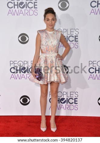 LOS ANGELES, CA - JANUARY 6, 2016: Maddie Ziegler at the People's Choice Awards 2016