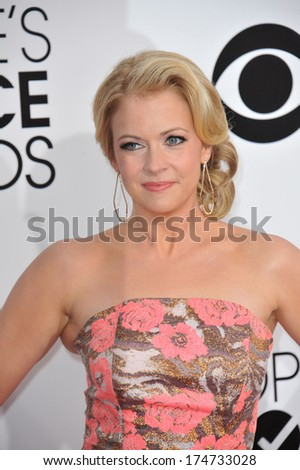 LOS ANGELES, CA - JANUARY 8, 2014: Melissa Joan Hart at the 2014 People's Choice Awards at the Nokia Theatre, LA Live.