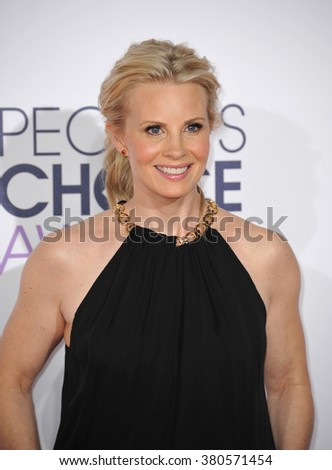 LOS ANGELES, CA - JANUARY 7, 2015: Monica Potter at the 2015 People's Choice  Awards at the Nokia Theatre L.A. Live downtown Los Angeles.