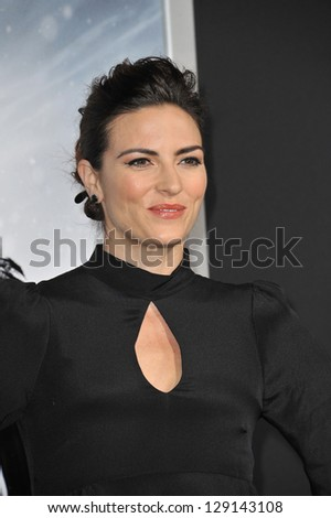 "LOS ANGELES, CA - JANUARY 24, 2013: Monique Ganderton at the Los Angeles premiere of her new movie ""Hansel & Gretel: Witch Hunters"" at Grauman's Chinese Theatre, Hollywood. - stock photo"
