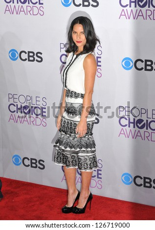 LOS ANGELES, CA - JANUARY 9, 2013: Olivia Munn at the People's Choice Awards 2013 at the Nokia Theatre L.A. Live.