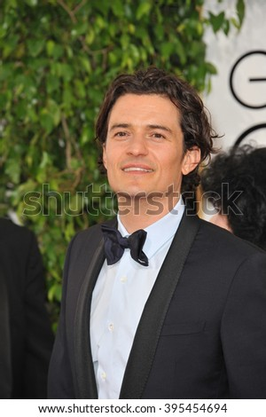 LOS ANGELES, CA - JANUARY 12, 2014: Orlando Bloom at the 71st Annual Golden Globe Awards at the Beverly Hilton Hotel. - stock photo