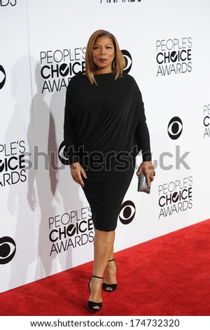 LOS ANGELES, CA - JANUARY 8, 2014: Queen Latifah at the 2014 People's Choice Awards at the Nokia Theatre, LA Live.  - stock photo