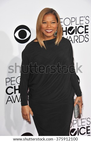 LOS ANGELES, CA - JANUARY 8, 2014: Queen Latifah at the 2014 People's Choice Awards at the Nokia Theatre, LA Live.
