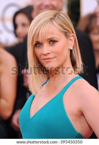 LOS ANGELES, CA - JANUARY 12, 2014: Reese Witherspoon at the 71st Annual Golden Globe Awards at the Beverly Hilton Hotel. - stock photo