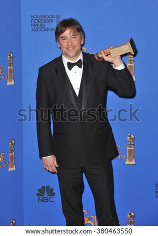 LOS ANGELES, CA - JANUARY 11, 2015: Richard Linklater at the 72nd Annual Golden Globe Awards at the Beverly Hilton Hotel, Beverly Hills. - stock photo
