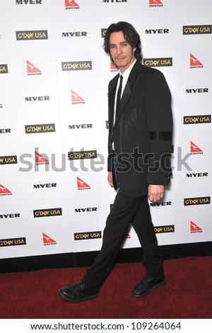 LOS ANGELES, CA - JANUARY 16, 2010: Rick Springfield at the 2010 G'Day USA Australia Week Black Tie Gala at the Grand Ballroom at Hollywood & Highland. - stock photo
