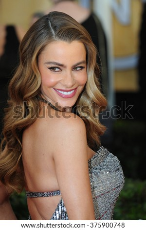 LOS ANGELES, CA - JANUARY 18, 2014: Sofia Vergara at the 20th Annual Screen Actors Guild Awards at the Shrine Auditorium.