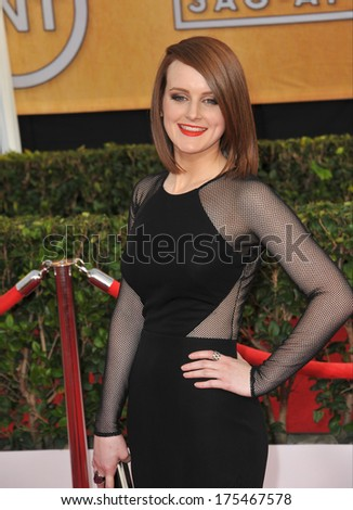 LOS ANGELES, CA - JANUARY 18, 2014: Sophie McShera at the 20th Annual Screen Actors Guild Awards at the Shrine Auditorium.
