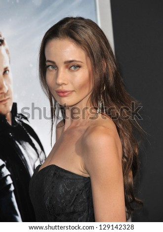 "LOS ANGELES, CA - JANUARY 24, 2013: Stephanie Corneliussen at the Los Angeles premiere of ""Hansel & Gretel: Witch Hunters"" at Grauman's Chinese Theatre, Hollywood. - stock photo"